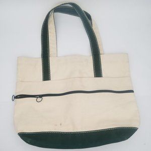 Lands End Green Canvas Tote Made in USA
